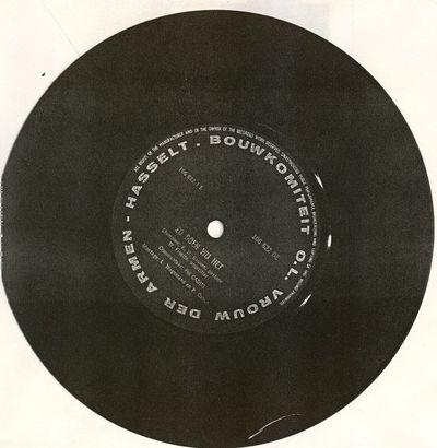 Bouwkomiteit Parochie O.L. Vrouw der Armen Hasselt, single Zo doen wij het (voorzijde) - De Meiklokjes zingen (keerzijde), jaren 1960, geperst vinyl, gedrukt, papier.