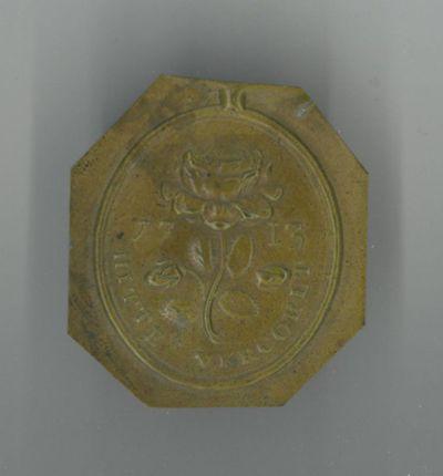 Anoniem, proefdruk van medaille 'Hitte Vercoelt 1713', niet gedateerd, messing.