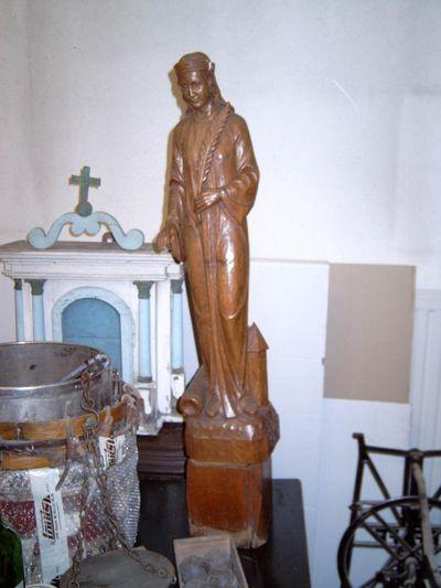 Anoniem, Beeld Heilige Barbara, tweede helft 20ste eeuw, eikenhout.