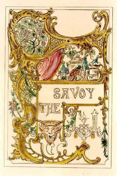 Manufacture de Céramiques Décoratives de Hasselt (1895-1954), ontwerptekening met een tegelpaneel voor het restaurant The Savoy, s.d., potlood, inkt, waterverf op papier.