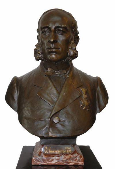Emile Cantillon (1859-1917), Borstbeeld van Clement Vanderstraeten (1824-1894), burgemeester van de stad Hasselt van 1865 tot 1872, ca. 1905, gips, gegoten.