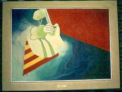 Tejo Van Den Broeck (°1943), Abstracte compositie, 1968, olie op doek.