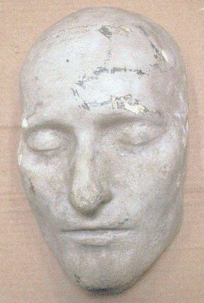 Anoniem, beeld van een mannenhoofd, s.d., gegoten gips, hol.