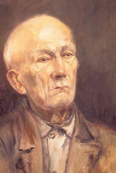 Virtorine (Victoire) Loodts (1880-1970), Oude man, s.d., olie op doek.