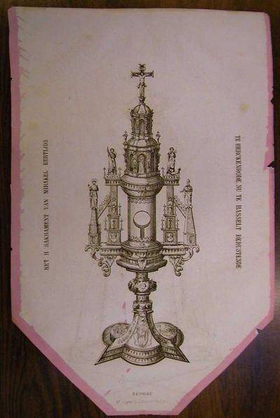 Michiel Ceyssens (1833-1927), Processievaantje Virga Jesse en H. Sacrament van Mirakel, 1873, lithografie.