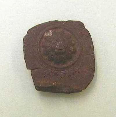 Philippen-Vinckenbosch, mal voor zilverblik met afbeelding van een bloem, s.d., lood.