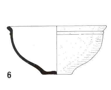 Volledige kop in geverfd (GV) of gladwandig oxiderend aardewerk (GWO)