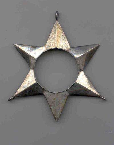 Jacques Vinckenbosch (1798-1876), hanger in de vorm van een ster, 1832-1869, zilver, edelsmeedkunst.
