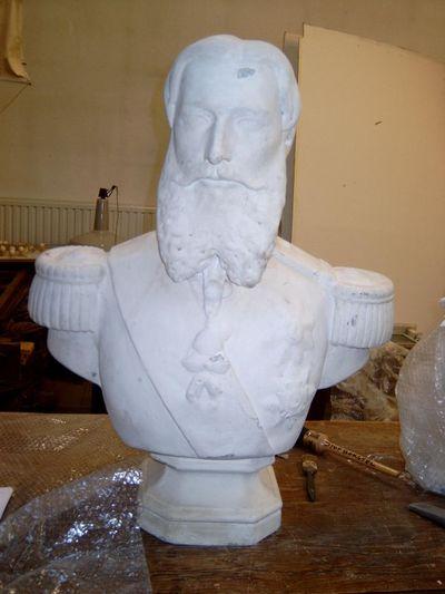 Raf Mailleux (1916-1966), borstbeeld van Leopold II, ontwerp voor het monument op het Kolonel Dusartplein, s.d., gips.