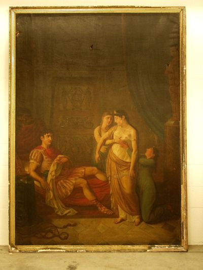 Octavianus (?) en Cleopatra