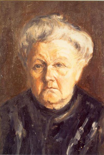 Virtorine (Victoire) Loodts (1880-1970), Oude vrouw, s.d., olie op doek.