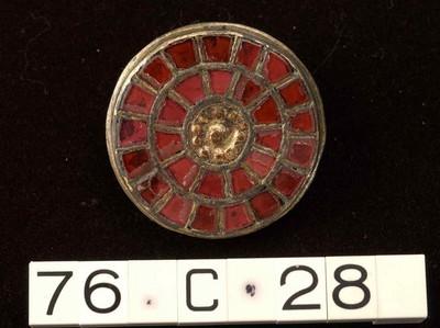 Incomplete zilveren schijffibula