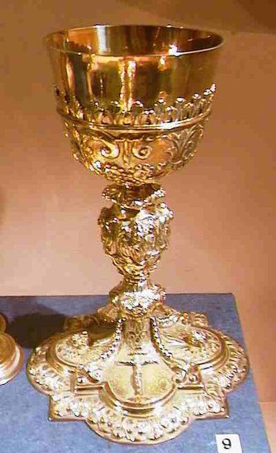 Anoniem, kelk, tweede helft 17de eeuw, verguld zilver.