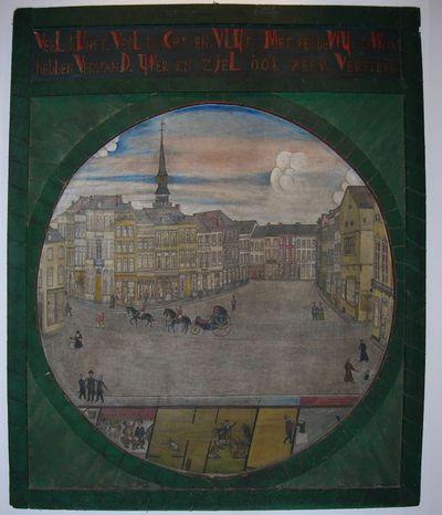 Joannes Nicolaus Grauls (1797-1876), De Hasseltse Grote Markt, 1862, olie op doek.