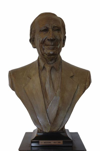 Gerard Moonen (°1953), Borstbeeld van Paul Meyers (1921-2011), Burgemeester van de stad Hasselt van 1963 tot 1988, 1990, brons.