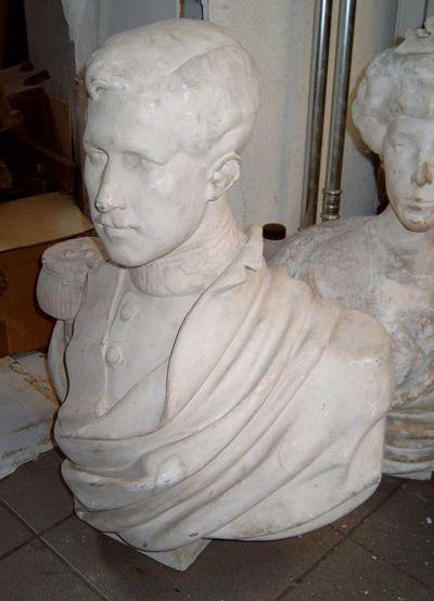 Hubert Eloy, beeldhouwer, Martin Hautecour, beeldhouwer, borstbeeld van koning Albert, s.d., gips.