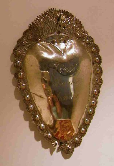 Jacques Vinckenbosch (1798-1876), ex-voto met inscriptie Jesus Maria Anna, 1832-1869, zilver, edelsmeedkunst.