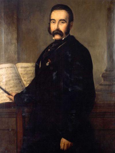 Godfried Egide Guffens (1823-1901), Portret van Ulysse Claes (1792-1880), 1858, olie op doek.