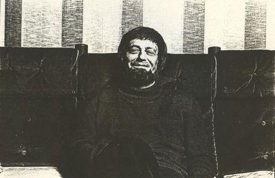 Carlo Valkenborgh (°1957), portret Miel Cools (°1935), 1982, papier.