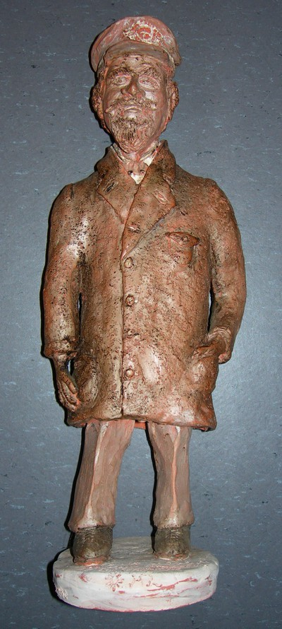 Louis Houben (°1927), handgemaakte maquette van beeld van Adrien de Gerlache op de Kleine Ring in Hasselt, s.d.
