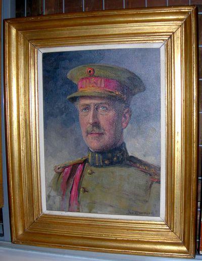Jos. Damien (1879-1973), portret van koning Albert I, s.d., olie op doek.