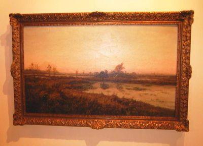 Charles Theunissen (1871-1948), Fin d'hiver: Marais de Genck, s.d., olie op doek.
