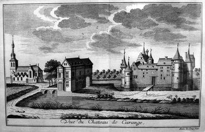 Remacle Le Loup (1694-1746), Vue du Chateau de Curange, ca.1740, papier, kopergravure.
