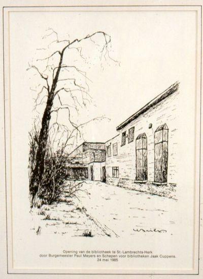 Bill (Willy Briers) (1927-1989), prent Stedelijke Bibliotheek Sint-Lambrechts-Herk, 1985, papier.