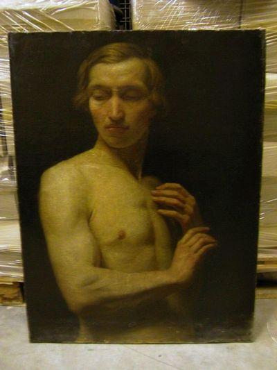 Michel Geraets (1829-1908), Studie, s.d., olie op doek.