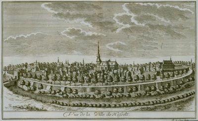 Remacle Le Loup (1694-1746), Vue de Ville de Hasselt, 1740, papier, kopergravure.
