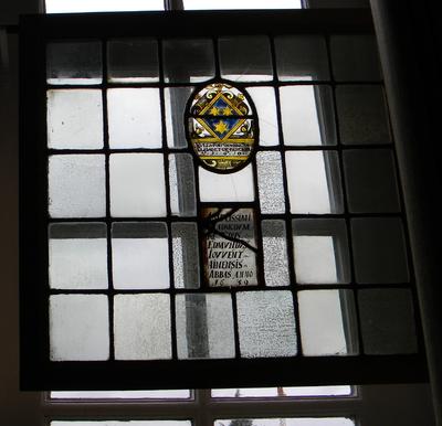Anoniem, samengesteld glasraam '1610 / 1639' van Herkenrode, glas-in-lood.