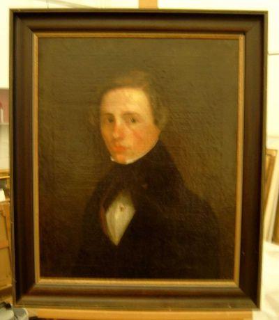Anoniem, Buste van een jongeman, 19de eeuw, olie op doek.