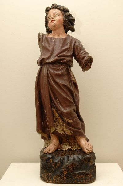 Anoniem, beeld van het kindje Jezus, 17de eeuw, gesneden, gepolychromeerd hout.