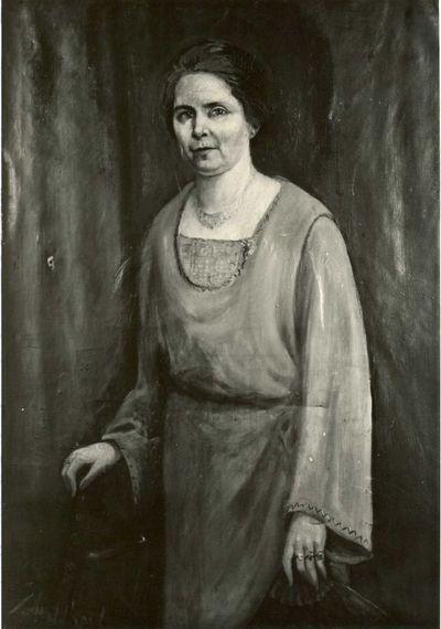 Gaston Joseph Wallaert (1889-1954), portret van mevrouw Maria Peeters-Leynen (1872-1966), ca. 1925, olie op doek.