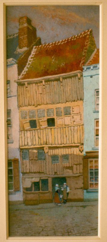 Paul Marie Bamps (1862-1932), De Ossekop, ca. 1890, gouache.