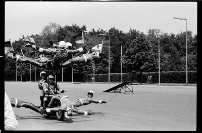 S/w-Fotografie: 1987 Berlin Brigade Organization Day in den McNair Barracks in Berlin-Lichterfelde