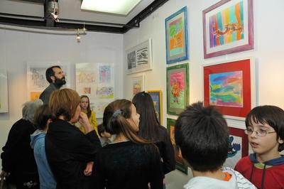 Отварање изложбе дечијег стваралаштва  у креативној радионици  библиотеке Сава Вук Караџић на Новом Београду