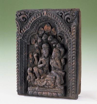 Visnu en Lakshmi