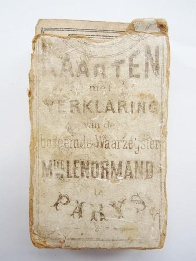 Kaarten met verklaring van de beroemde Waarzegster Mlle. Lenormand te Parijs