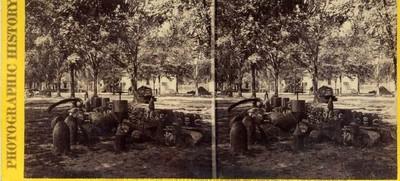 War views: Group af relics in Charleston, S.C., Arsenal