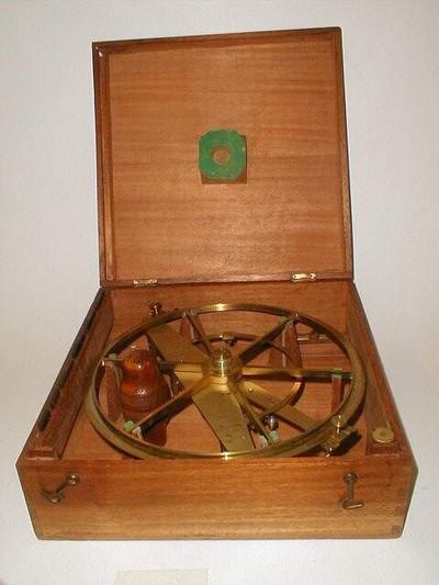 Reflectiecirkel volgens Borda Lenoir. Dit type werd gebruikt bij het meten van de afstand van Parijs naar Barcelona voor de definitie van de meter. Het instrument is van messing en wordt bewaard in een houten kist.