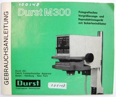 Gebrauchsanleiting Durst M300