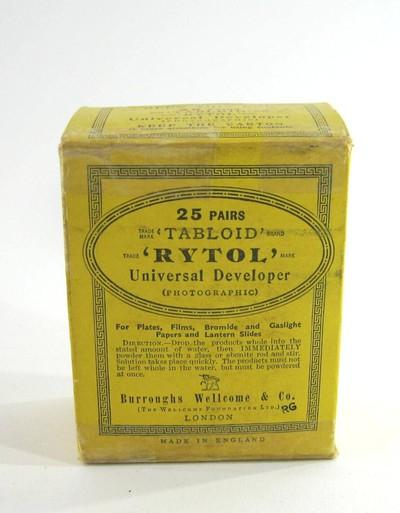 Burroughs Wellcome & Co. Tabloid Rytol Universal Developer