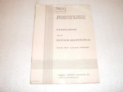 Handleiding van de Alb Nestler AG rekenschuif