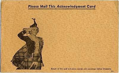 Please mail this acknowledgment card