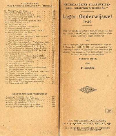 Lager-Onderwijswet 1920