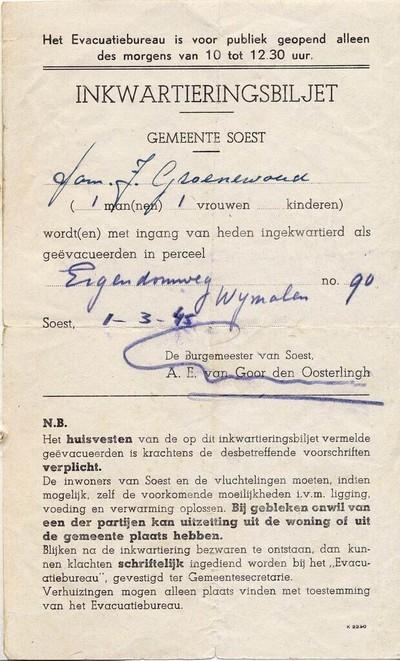 Voorspel van de bevrijding 2 Maart 1945 - 30 April 1945