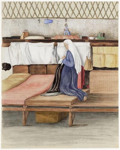 moeder Theresia (Schriks) op haar brits