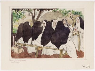 Zusters Clarissen aan de thee