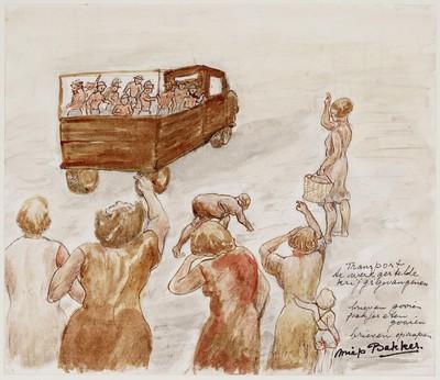 Transport tewerkgestelde krijgsgevangenen